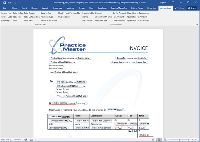 Design professional quality invoices in Word
