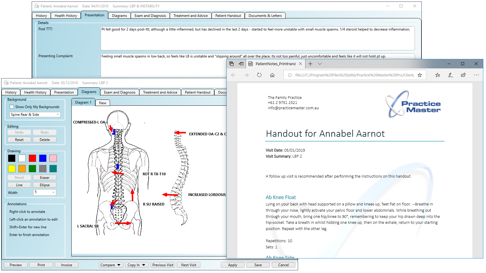 Practice Master Pro customisable patient notes software
